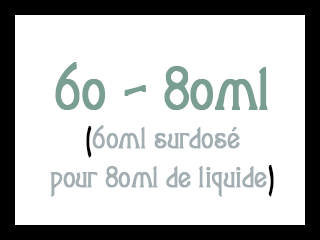 60-80 ml Fruités