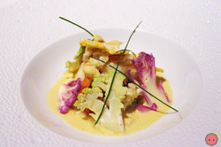 Warm peekytoe Maryland lump crab; shaved heirloom cauliflower, mustard emulsion