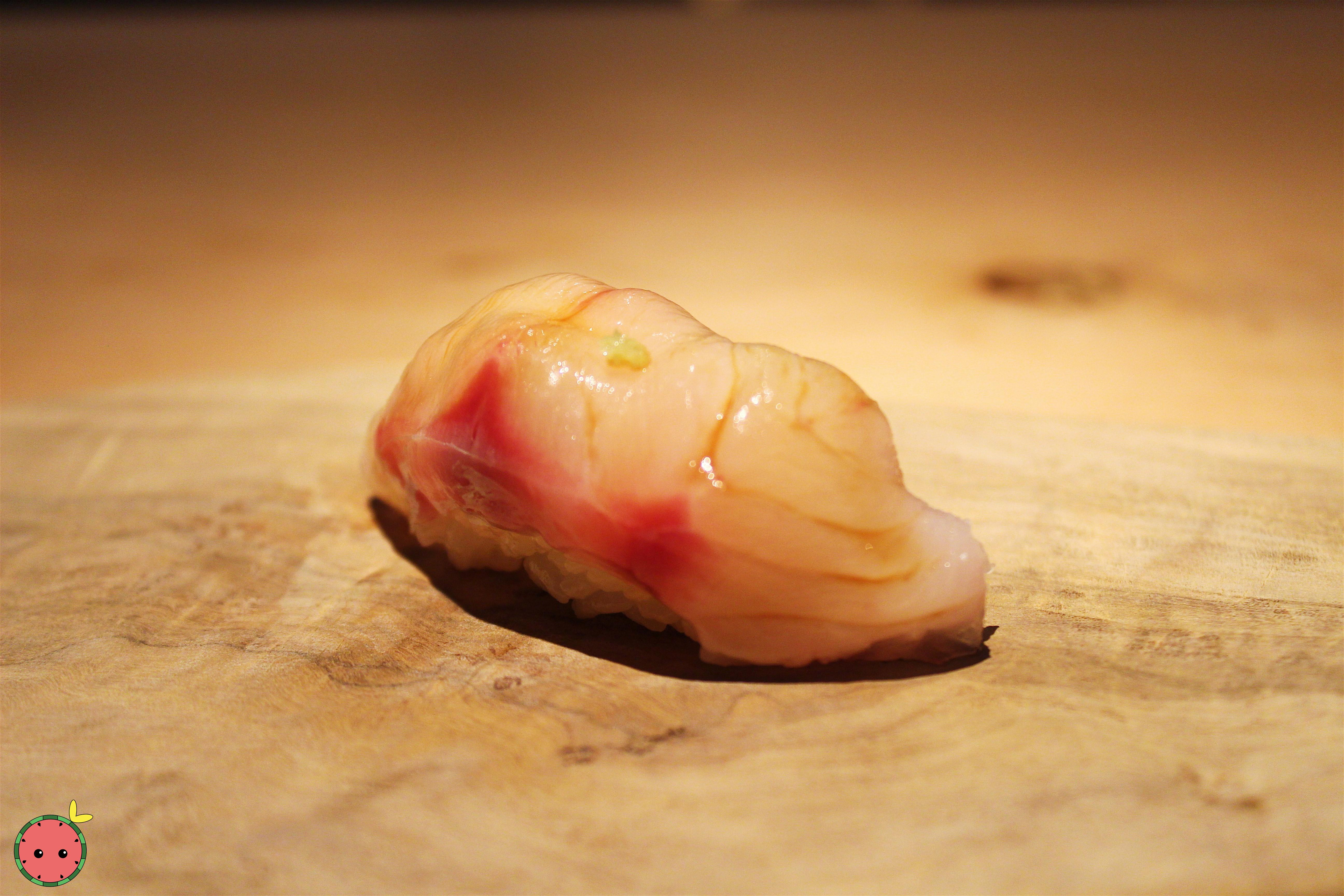 Akamutsu from the east coast of Japan with freshly grated ginger