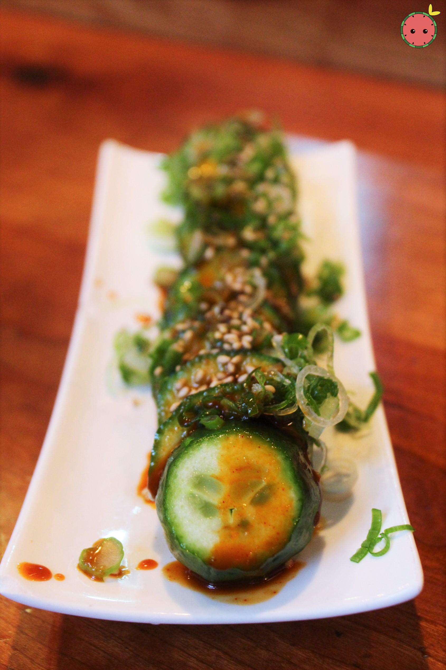 Yami Q - Fresh cucumber with special spicy sauce, scallion, and sesame