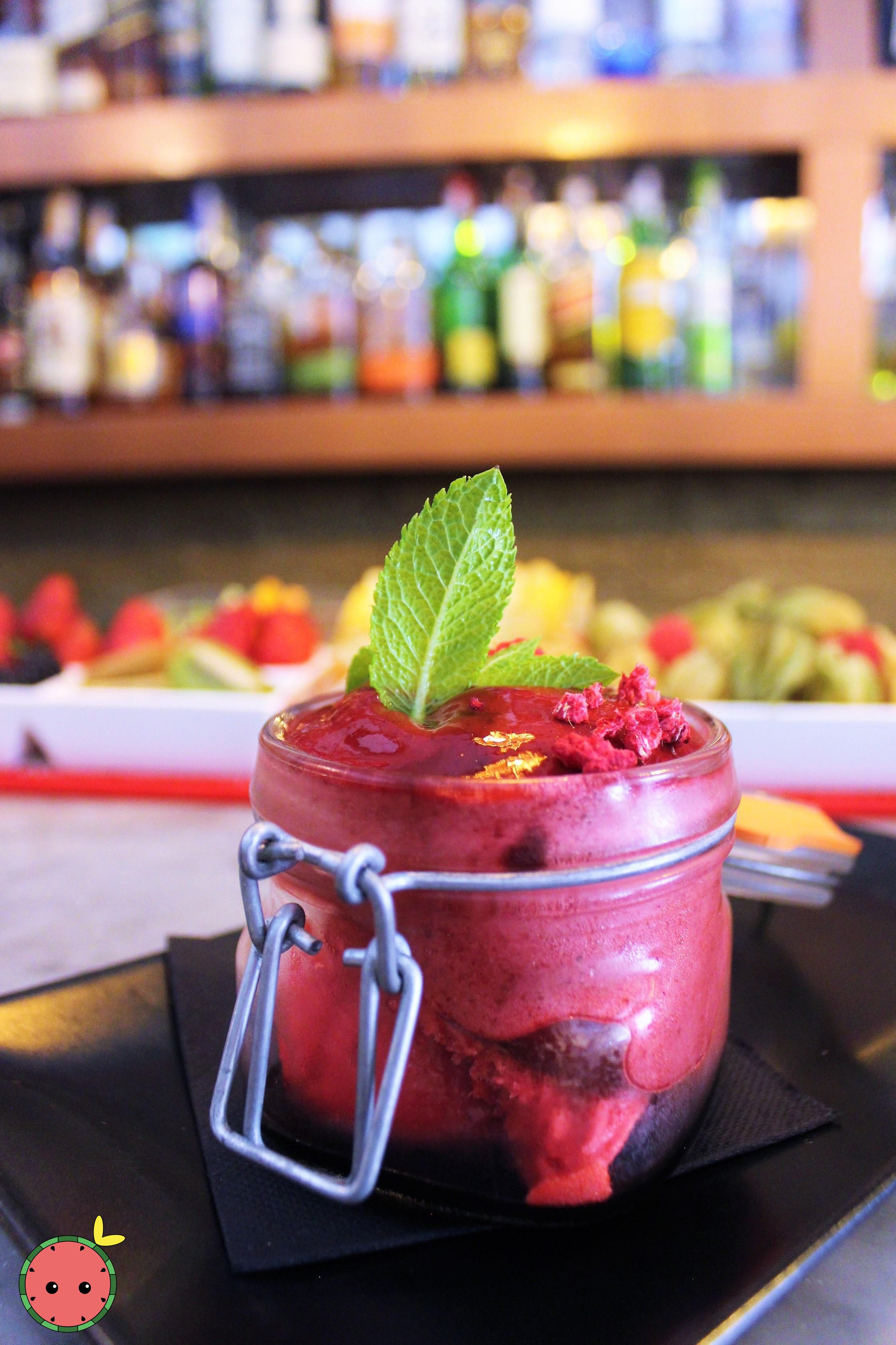 Blackberry Mojito's Mousse