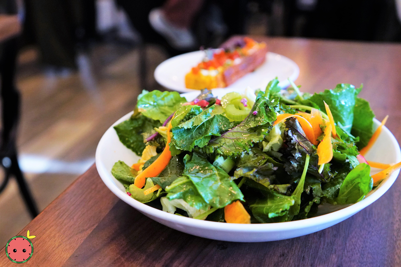 Breakfast Salad with Shaved Fennel, Crunchy Veggies, Sumac, Baby Kale, & Cauliflower
