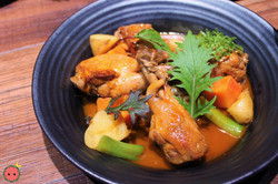Gochujang Braised Chicken with Root Vegetables