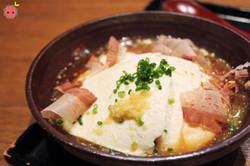 Homemade Tofu - Homemade tofu served with bonito flakes and Ootoya original sauce 3