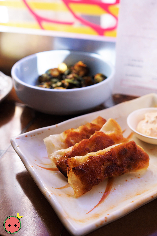 Lemony Shrimp Dumplings (Potsticker Style)