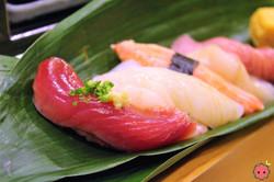 Bonito Fish, Pink Shrimp, Ika, Snow Crab, Scallops, Yellow Tail