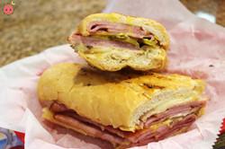 Cuban Sandwich_ Ham, cheese, pork, pickles, mustard, mayonnaise