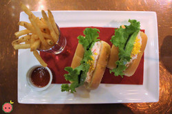 Chef's Special Sandwich with Snow Crab, Avocado, and French Fries