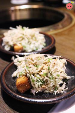 Tofu Salad with Peanut Sauce