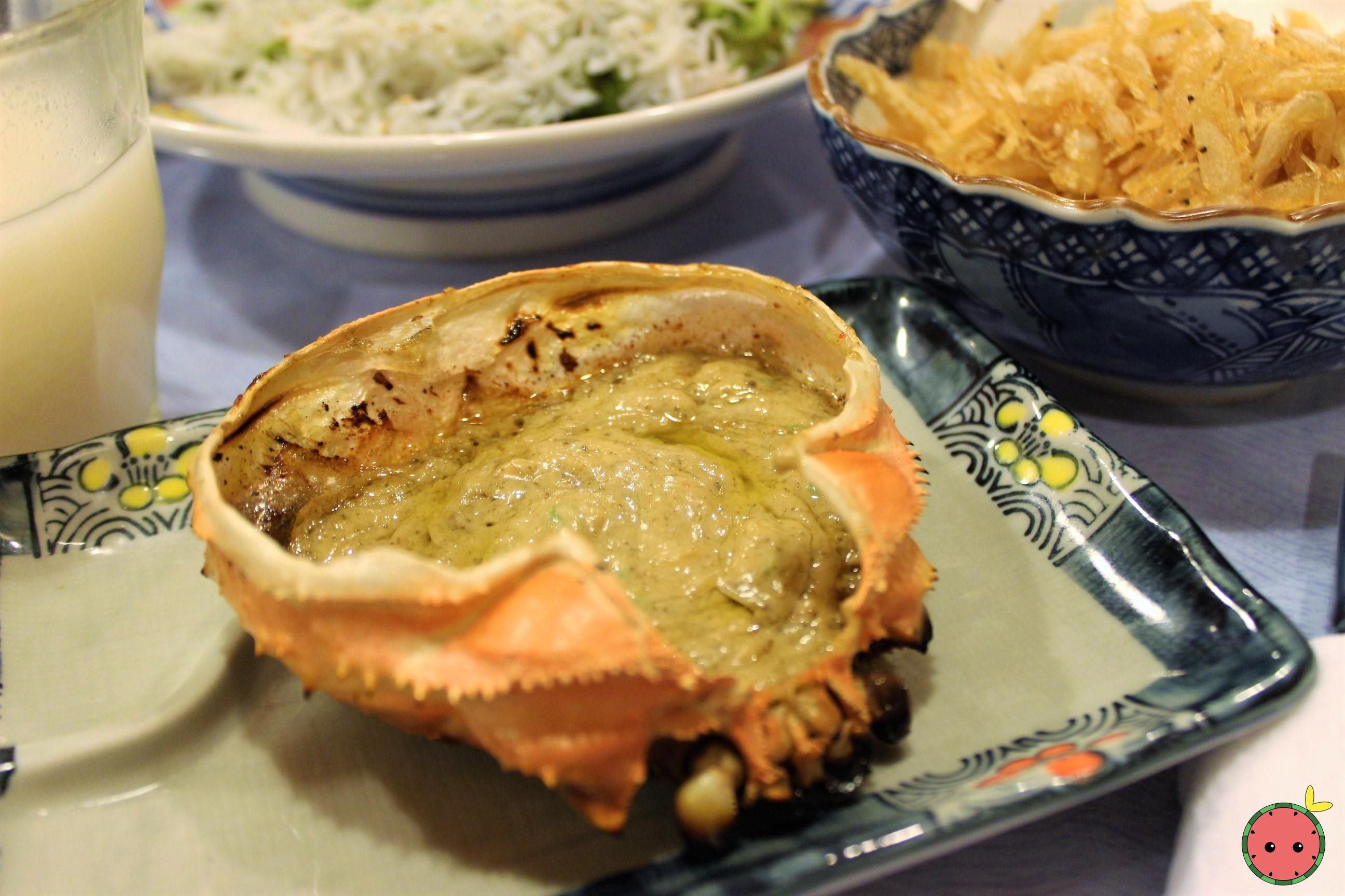 Kanimiso Koura Yaki (grilled)