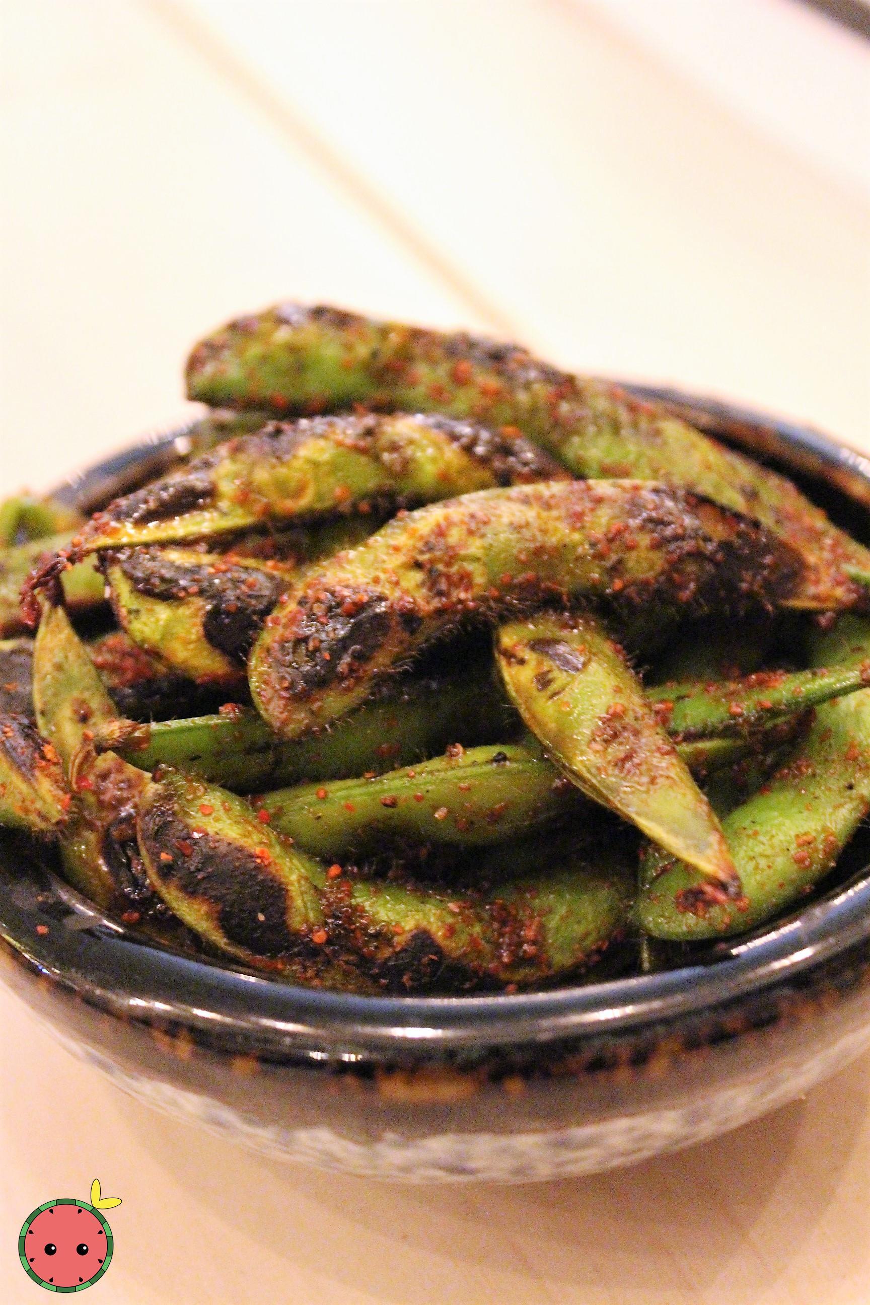 Spicy Charred Edamame