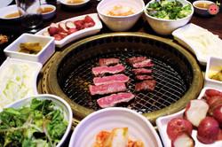 Combo 1 BBQ - Seng galbi, marinated galbi, bulgogi, ribeye (4)