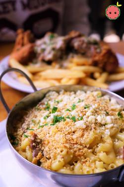 Sirloin Mac 'n' Cheese - Elbow Pasta Casserole, Mornay Sauce, Shaved Sirloin, Blue Cheese Crumble, C