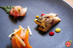 Red Bream with Cherry Leaf Salted Ginger