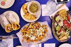 Souvlaki GR lunch spread