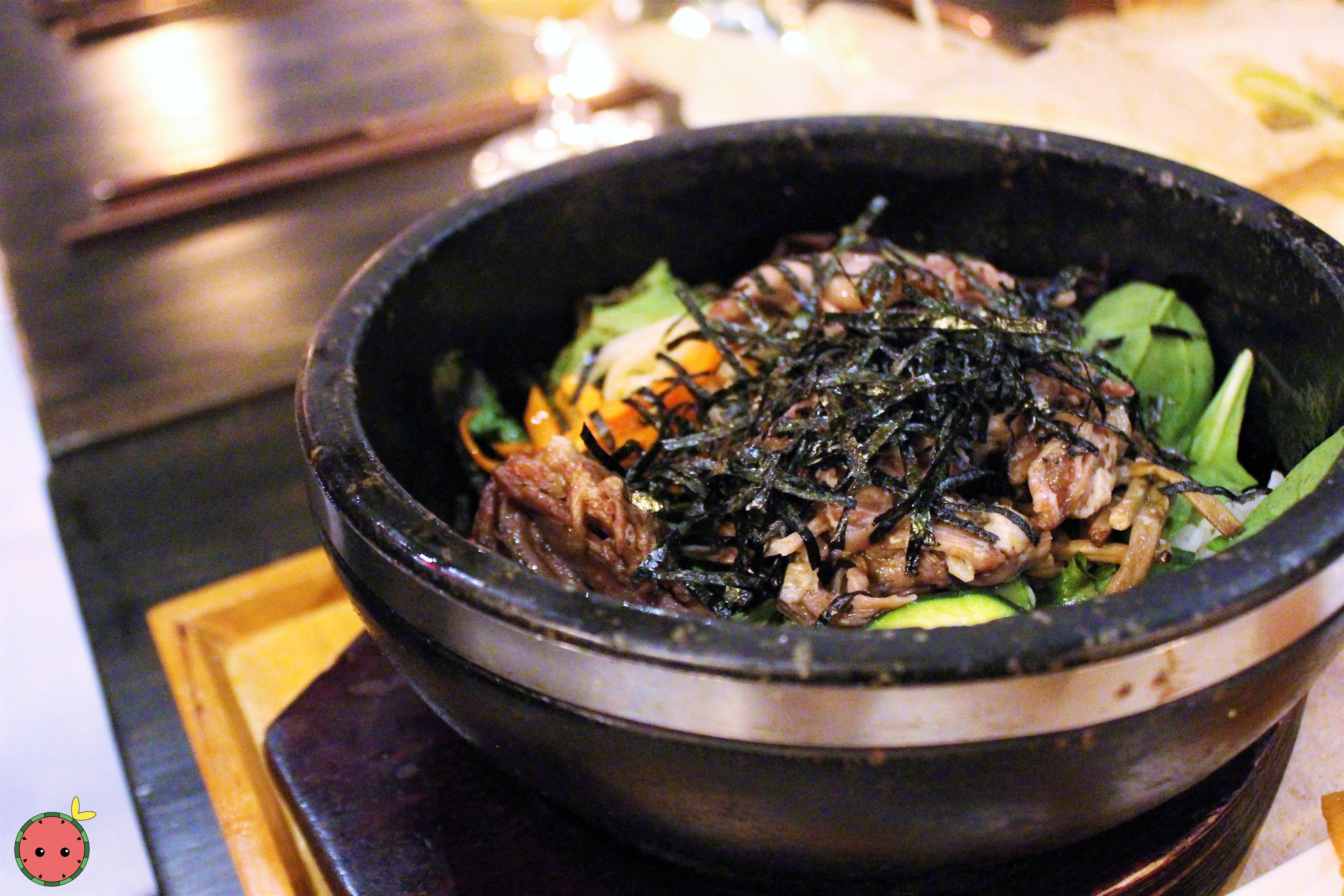 Duck Bibimbap - Rice, shredded duck meat, chili pepper paste