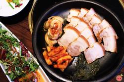 Bossam - Pork belly, octopus, oyster kimchi