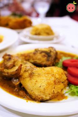 Stewed Chicken with Brown Gravy