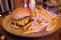 Covina Burger & Fries (special sauce, American cheese, dashi pickle)