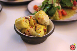 Baby Artichoke with Calabrian Chili, Lem