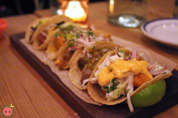 Taco Flight - Al Pastor, Suadero, Pescado, Picadillo, Hongos, & Tinga De Pollo 2