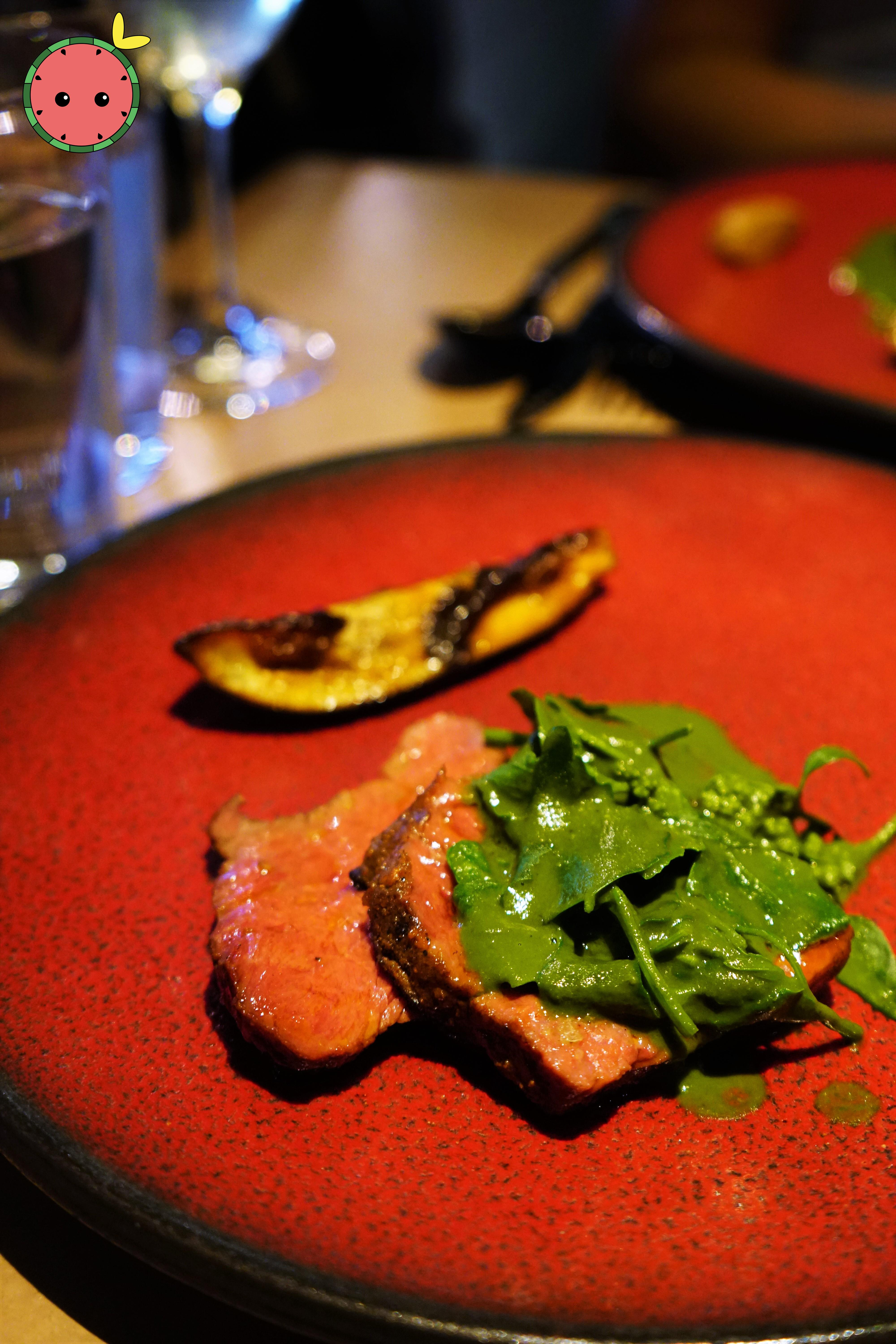 Aged Beef with Ndole & Aubergine (2)