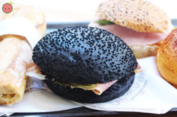 Squid Ink Bun Sandwich