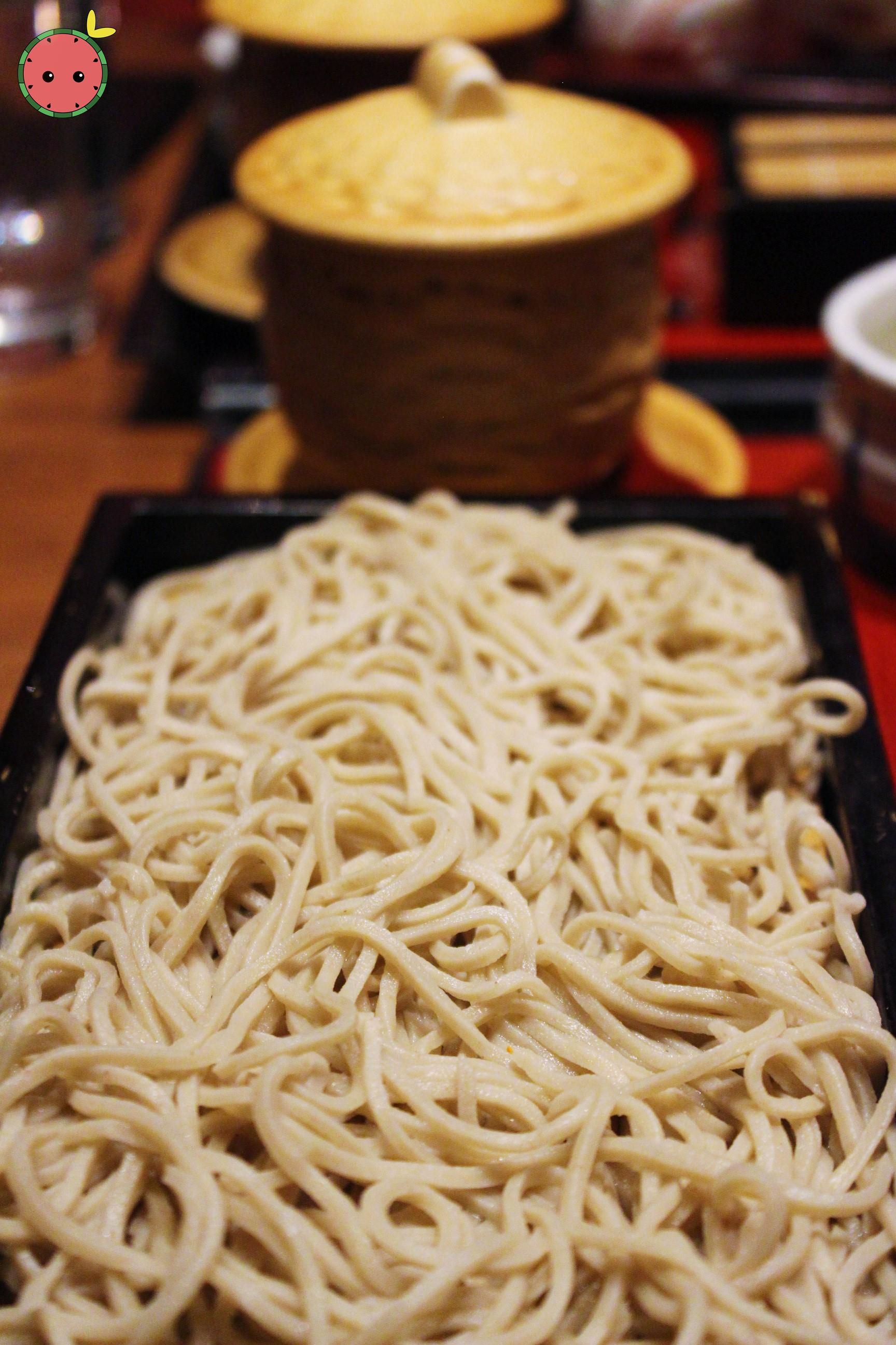 Fresh homemade soba noodles