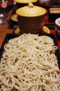 Fresh homemade soba noodles
