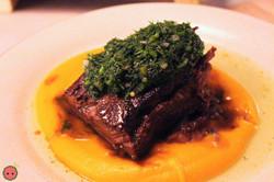Braised_Short_Rib_-_Sweet_potato_and_orange_purée,_dill_chimichurri