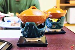 Shiizakana - Chicken and sake lees pot with spring onion, dropwort, deep-fried tofu, and carrot (2)