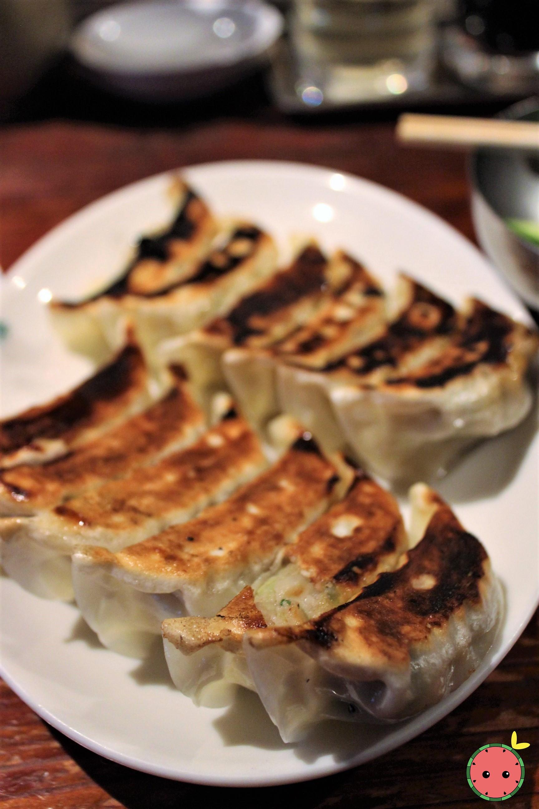 Pan Fried Dumplings with Garlic & Chives