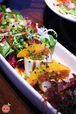 Tofu Salad - Silken tofu, plum vinaigrette, spring salad