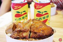 Fried chicken leg bento box