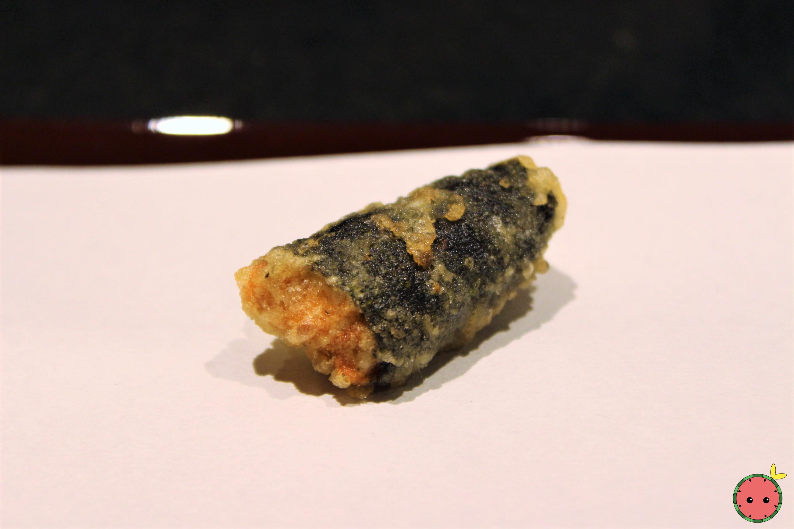 Uni Wrapped in Seaweed Tempura