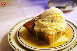 Bread Pudding with Whiskey Sauce and Butter Pecan Ice Cream A-La-Mode (2)