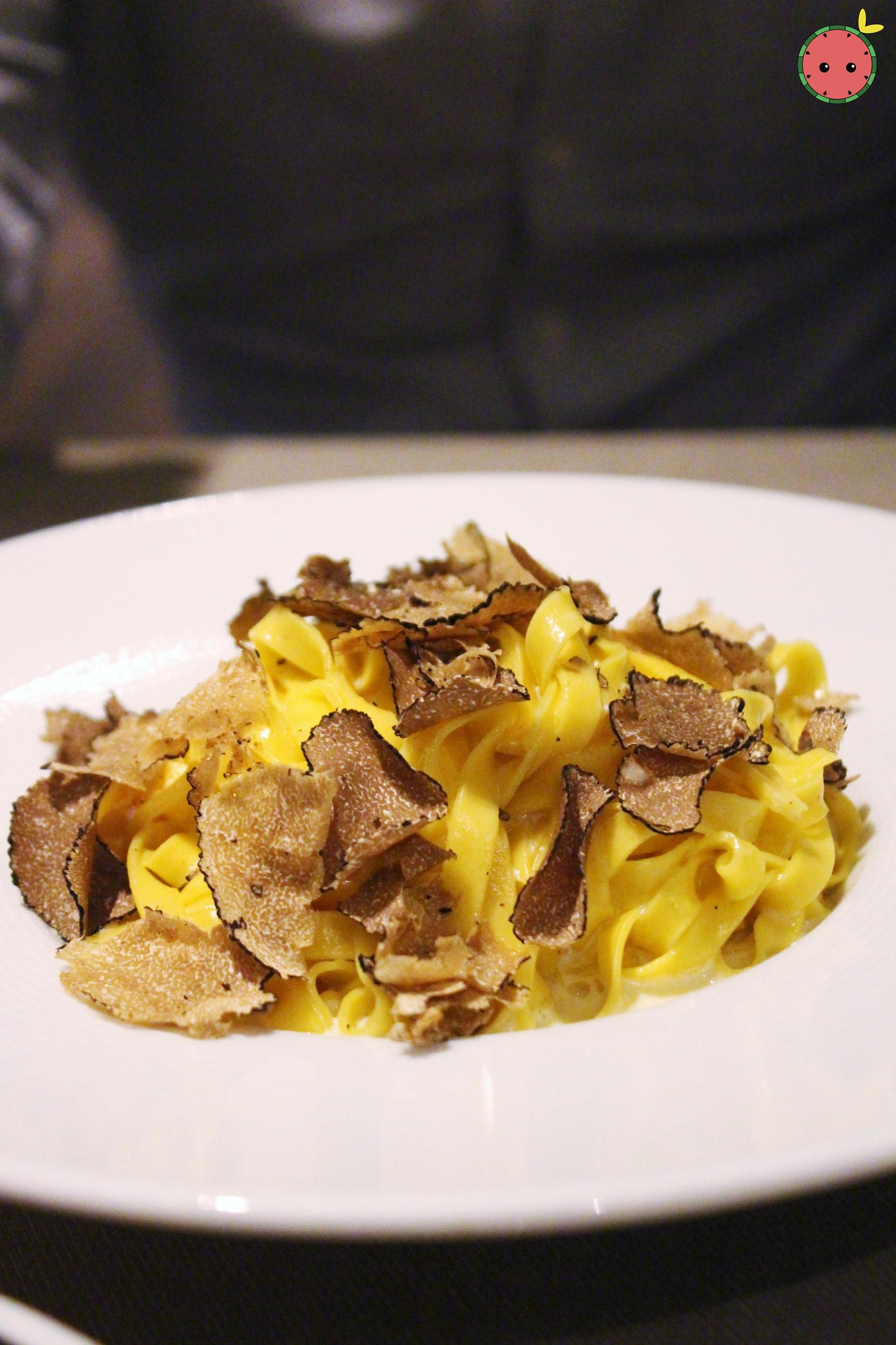 Tagliatelles with Truffle and Truffled Cream