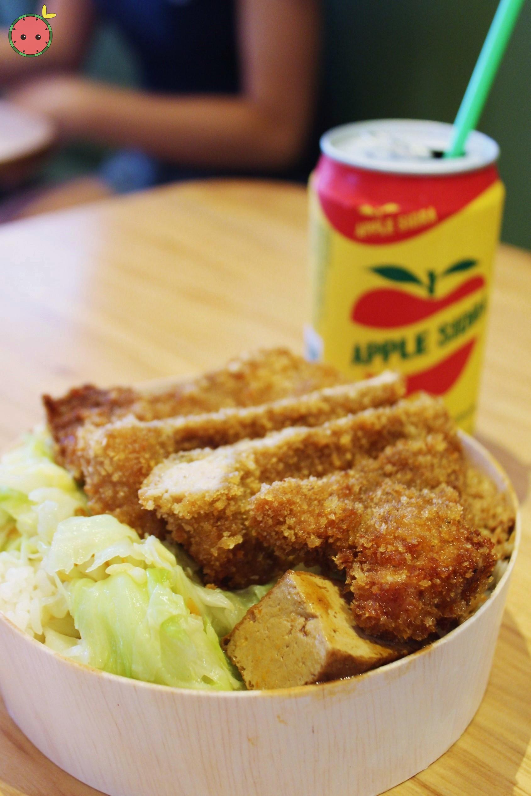 Golden crust pork chop bento box