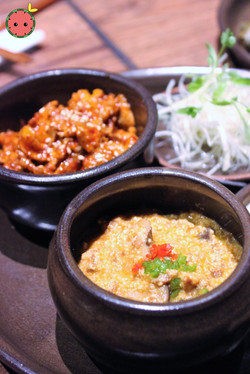 Ssam Platter with Spicy Pork and Gang-deon-jang (2)