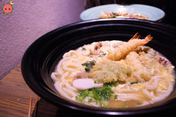 TsuruTonTan Deluxe - Shrimp & vegetable tempura, beef short plate, chicken, egg dropped