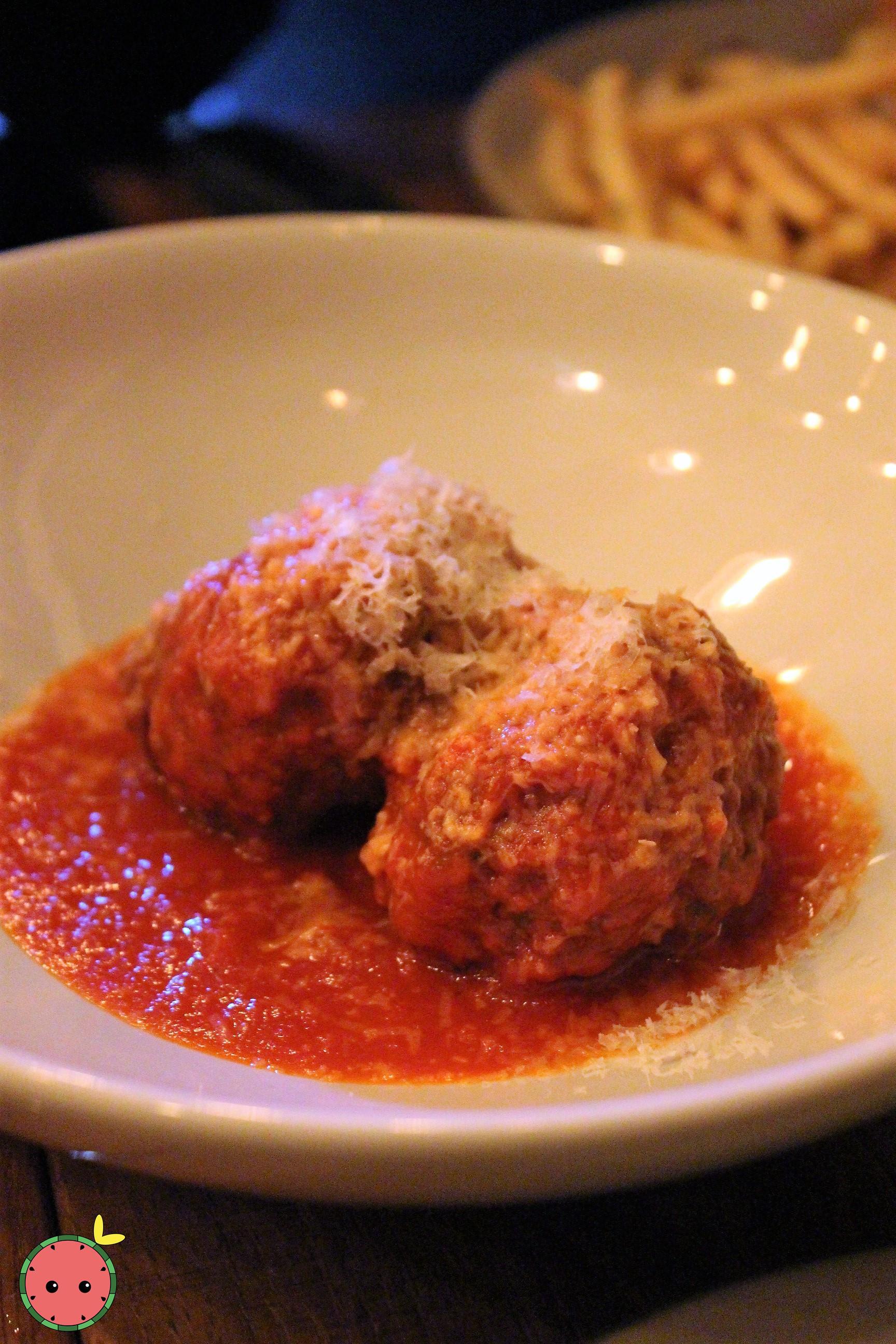 Meatballs (pork, veal, beef, San Marzano sugo, parmesan)