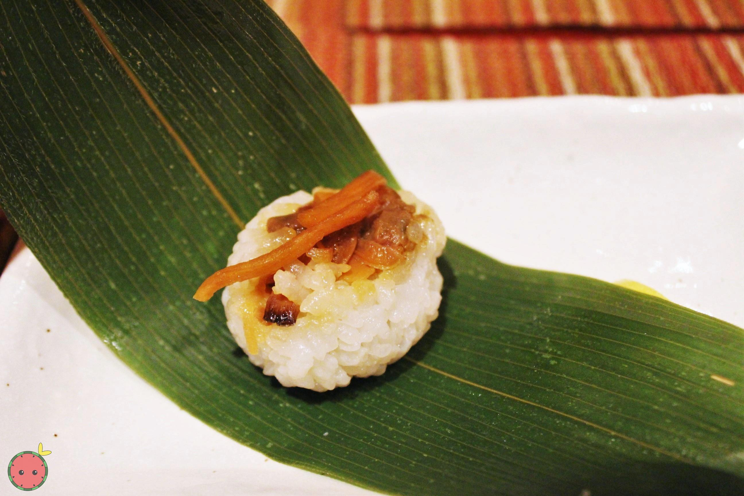 Oshinogi - Braised Asari Little Neck clam sushi