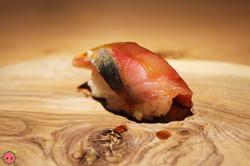 Saba (mackerel) from Hokkaido with white seaweed