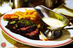 Steak Frites - Natural Brandt Bavette Steak with Sauce Bearnaise or Maitre d'Hotel Butter
