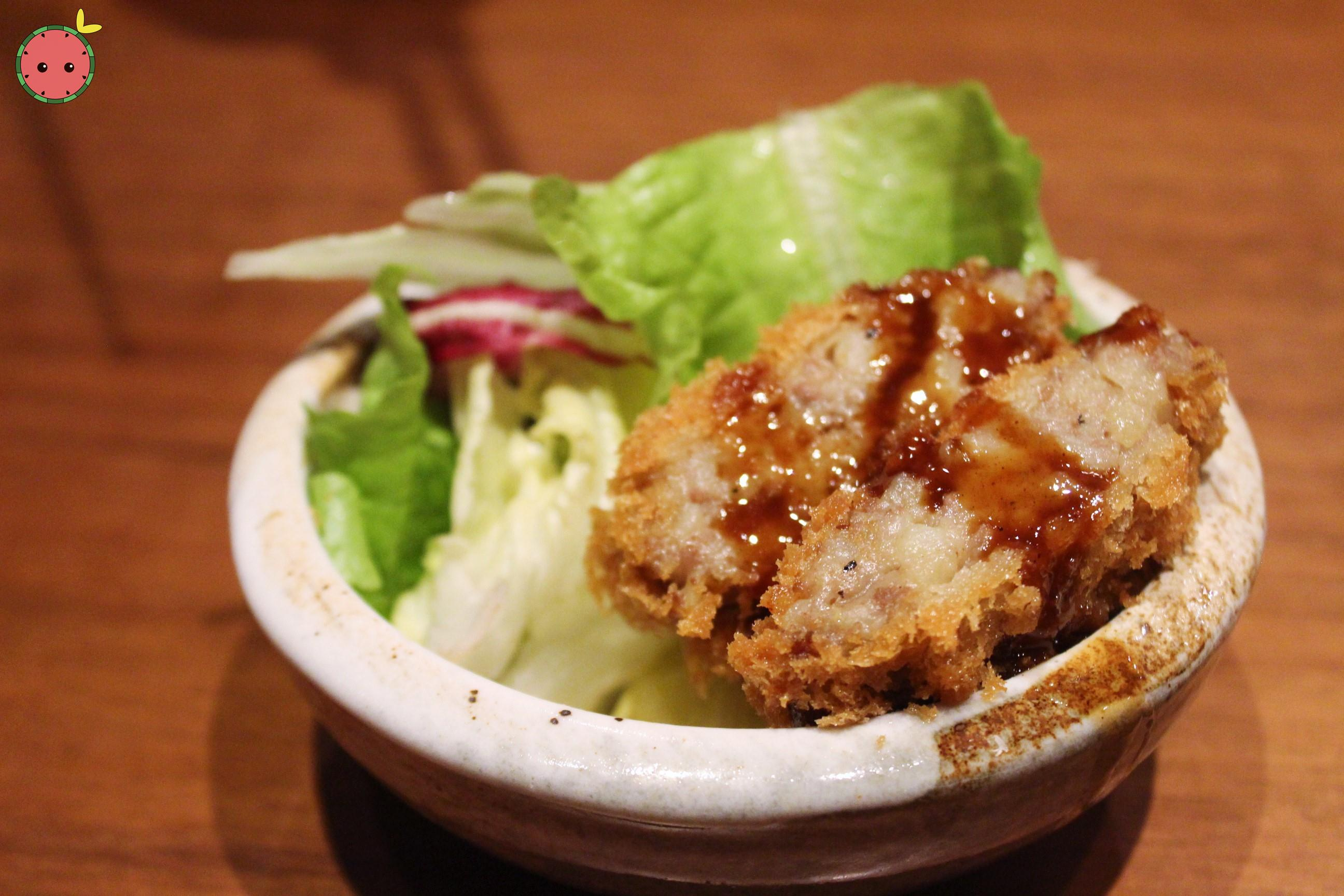 Potato Croquette - Fried croquette with mashed potato and minced beef, served with original tonkatsu