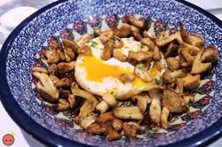Wild Mushrooms with Farm Egg