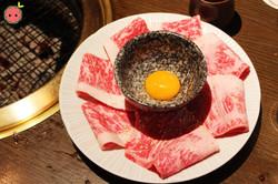 Wagyu Sirloin with Egg Yolk Shabu Shabu