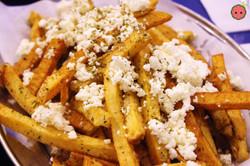 Hand-Cut Greek Fries sprinkled with feta cheese and seasoned with Greek oregano (2)
