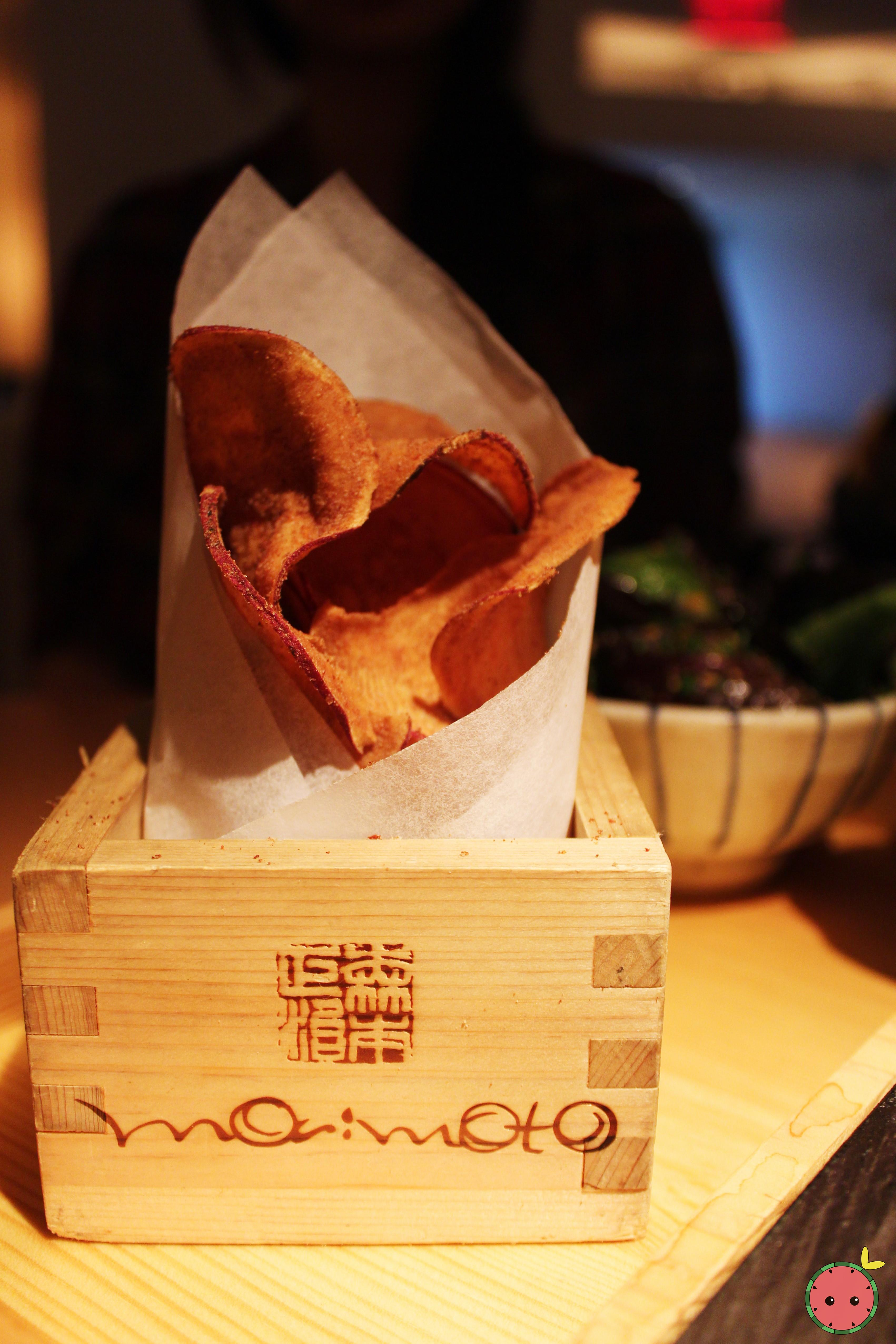 Soy sat and vinegar Japanese sweet potato chips