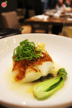 Chilean sea bass with dry miso